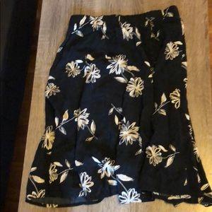 90s floral skirt